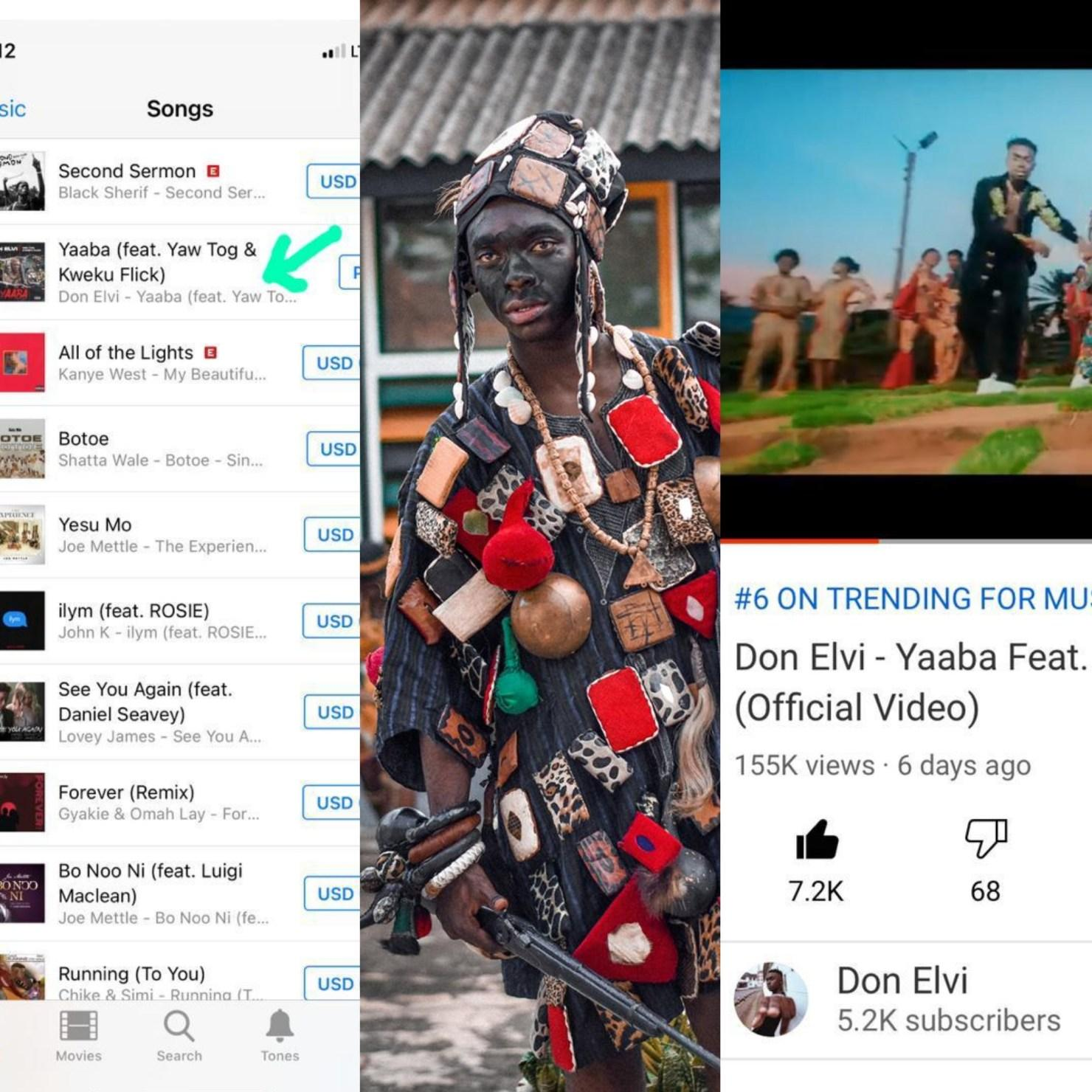 Don Elvi's Yaaba Hit Trends 2nd On ITunes Chart 6th On YouTube In Less Than A Week