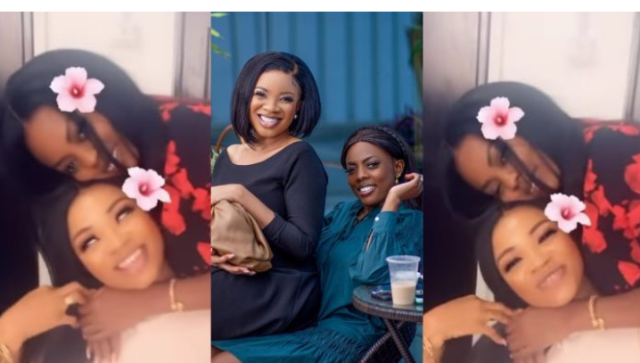 This Is Beautiful, Nana Aba Shares Heart Warming Video Of Her And Best Friend Serwaah Amihere
