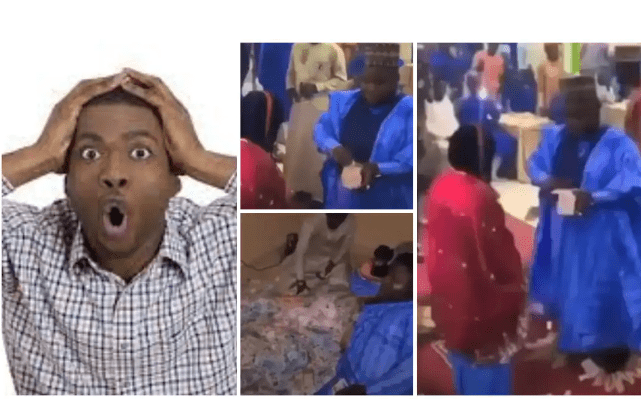 Man Picks Back All Money He Sprayed On Bride Who Refused To Smile At Him