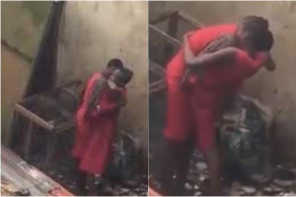 Video: Two Female Students Caught Romancing Each Other Behind School Building