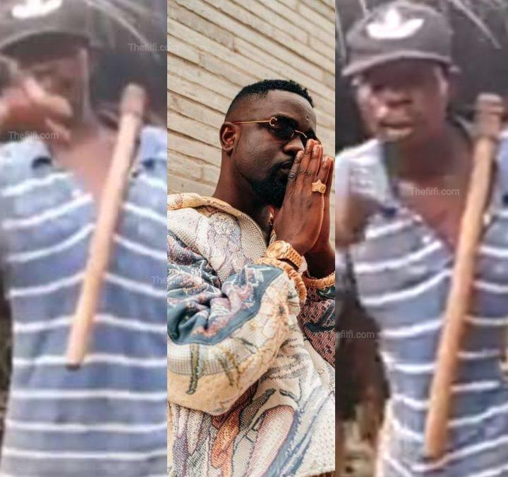 Video: Sarkodie Promises To Gift 50 Years Old Farmer For Rapping His Song, He Can't Remember The Lyrics