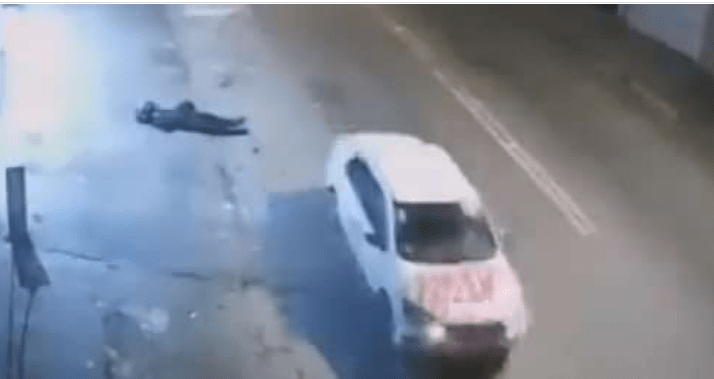 VIDEO: Armed Robber Shot Dead By Driver He Wanted To Rob